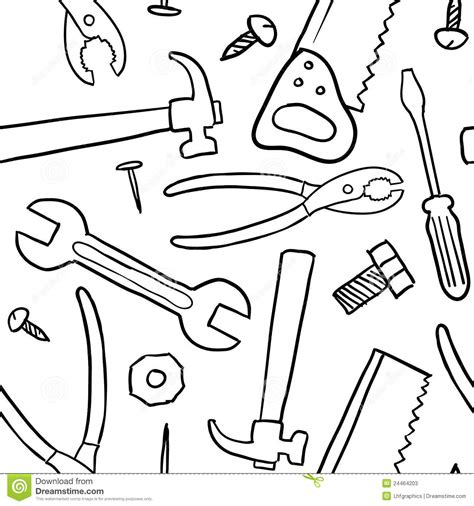 tools coloring pages preschool seamless tools vector background stock photos image