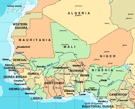 map of west africa gambian mike october 2012