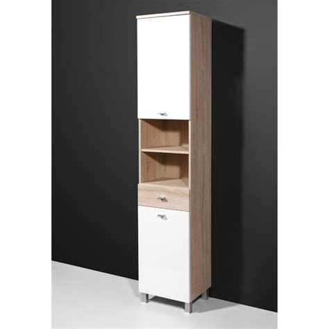 tall bathroom cabinets white gloss verena tall bathroom cabinet in gloss white canadian oak