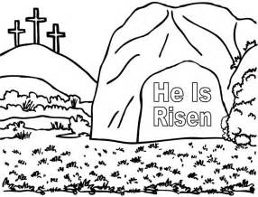 he is risen coloring page empty 171 crafting the word of god