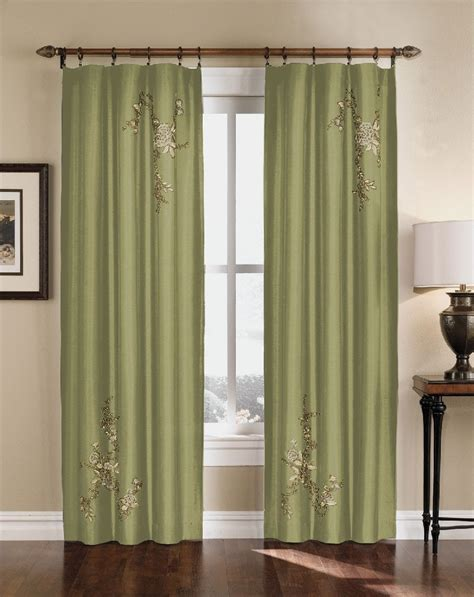 95 inch curtains floral embroidered faux silk curtain panel 63 95 inch ebay