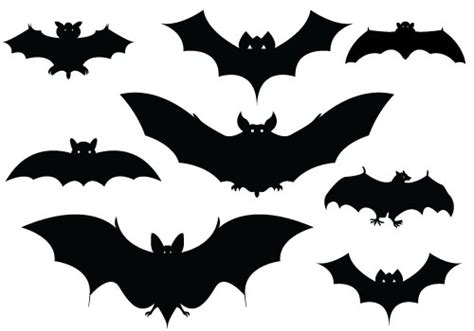 Bat Outline Vector by Bats Silhouettes Pinteres