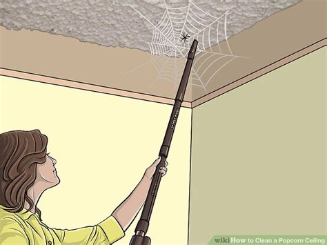 how to clean popcorn ceiling 3 ways to clean a popcorn ceiling wikihow