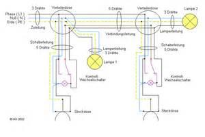 mehrere schalter für eine le wechselschaltung mit schalter steckdosenkombination