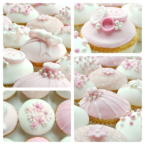 Baby Shower Cup Cakes For Girls - tea amp doilies pink baby shower cupcakes