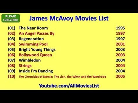 james mcavoy movies list james mcavoy movies list youtube