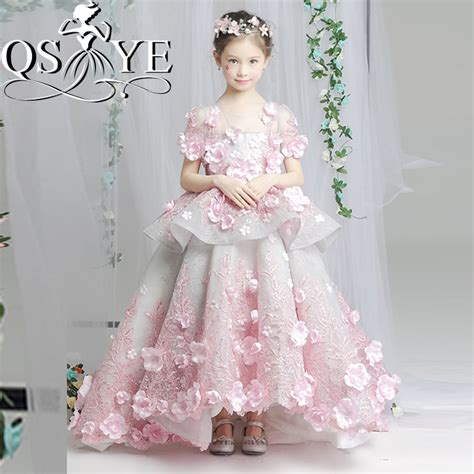 design flower girl dress online aliexpress com buy 2017 pink vintage arabic princess