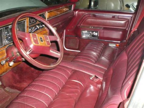 new castle auto upholstery buy used 1989 lincoln town car white w burgundy leather