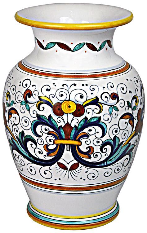 vaso deruta deruta italian ceramic vase
