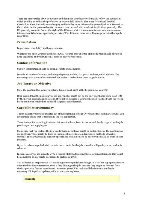 4 how to write simple resume for job lease template