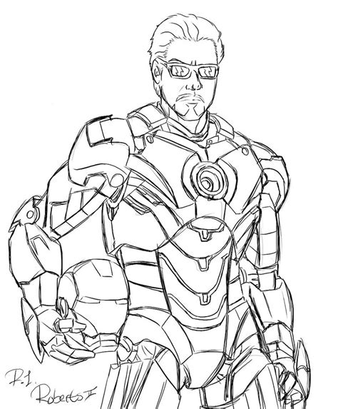 ironman unmasked by chaoslanternxxx on deviantart
