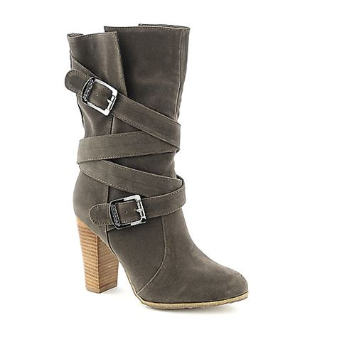 doll house boots dollhouse dare taupe mid calf high heel boot