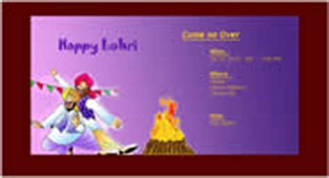 Enimantran Festivals Lohri Invitation Cards Lohri Invitation Templates