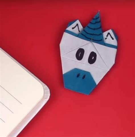 Origami Corner Bookmark - origami unicorn corner bookmark allfreepapercrafts