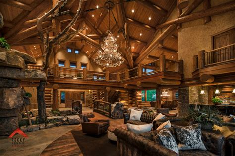 lodge style living rocky mountain homes