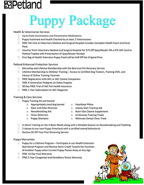puppy package puppy packages available visit petland topeka kansas