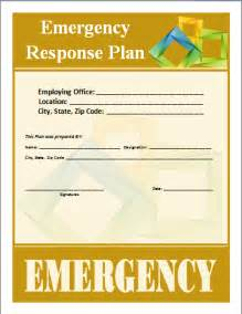 Emergency Response Plans Templates by Emergency Response Plan Template Word Documents