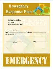 emergency response plan template emergency response plan template word documents