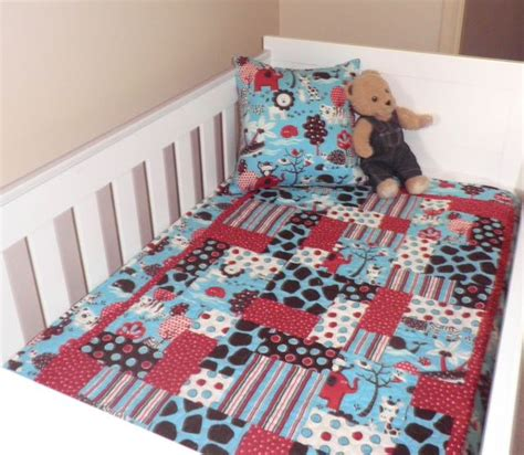 Patchwork Quilts For Babies - baby cot quilt fluffy jungle handmade baby patchwork