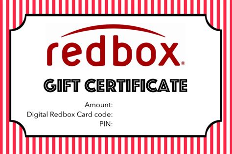 Printable Redbox Gift Cards - free printable redbox gift gift free redbox and teacher
