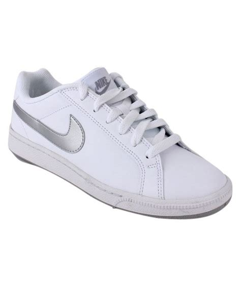 nike silver sneakers nike court majestic white silver sneakers buy s