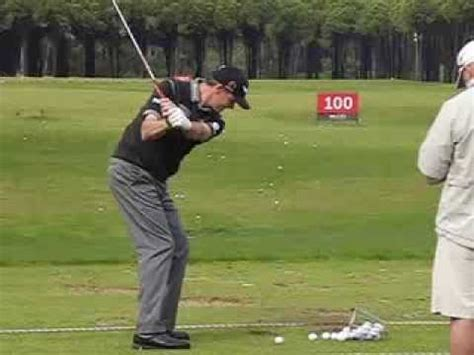 wedge golf swing paul lawrie pitching wedge iron swing down the line