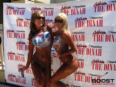 Miller Lite Mirror by Body Painted Girls Get Paid Party Learn How To Become A