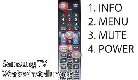 samsung tv l reset samsung tv auf werkszustand zur 252 cksetzen so funktioniert