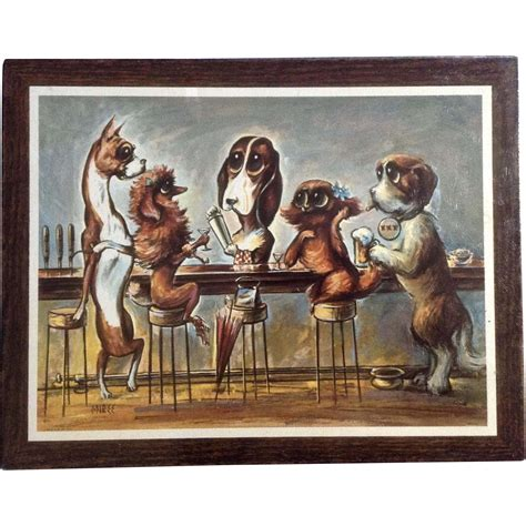 big dogs bar miree big eye dogs bar mid century print chion products wall from