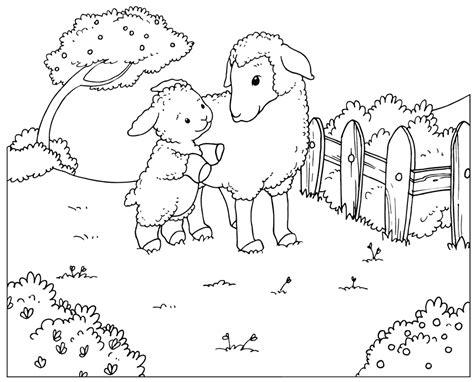 boyama sayfasi koyun ve kuzu