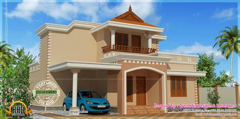2 Bedroom 2 Bathroom House Plans Simple Double Storied House Elevation Home Kerala Plans