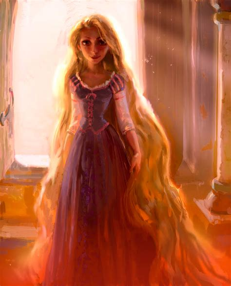painting rapunzel illustration tangled disney painting rapunzel walt