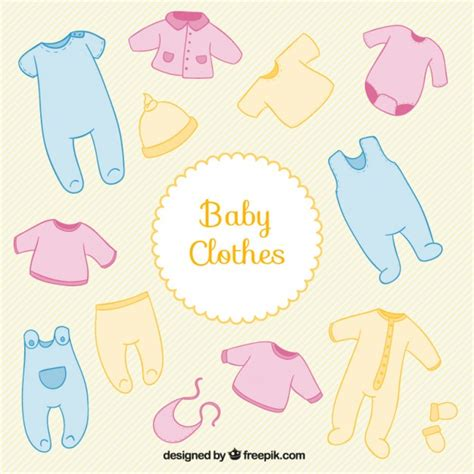 Baby Shower Clothes colored baby shower clothes vector free