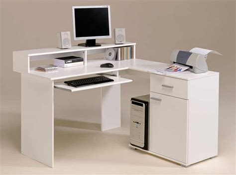 White Corner Computer Desks Small Corner Computer Desks Office Furniture
