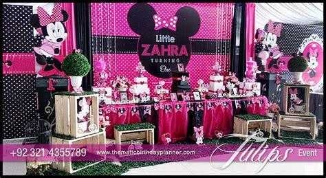 party themes minnie mouse minnie mouse party theme decoration ideas in pakistan