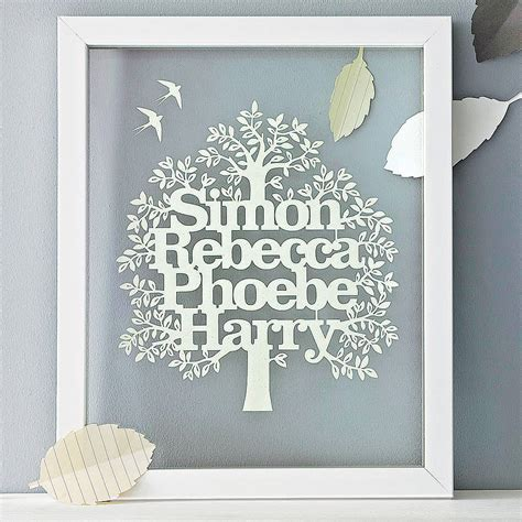 How To Make A Family Tree On Paper For - personalised family tree papercut by kyleigh s papercuts