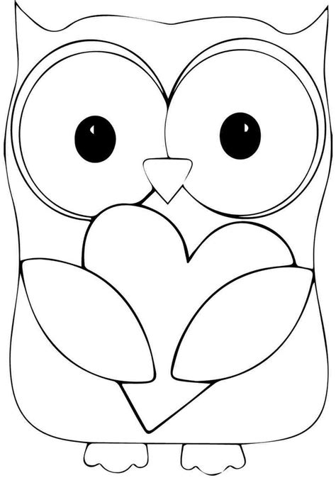 Printable Animal Owl Coloring Sheets For Kindergarten Birthday Ideas Pinterest Colouring In Templates