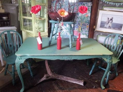 antique forest green shabby chic dining table by shabbychicalchemy 349 99 outdoor space