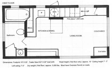 tiny house floorplan floor plans tiny house