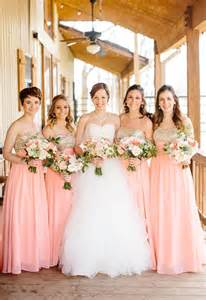 pink and gold bridesmaid dresses archives southern weddings