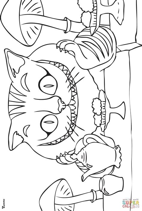 coloring pages of cheshire cat cheshire cat coloring page free printable coloring pages