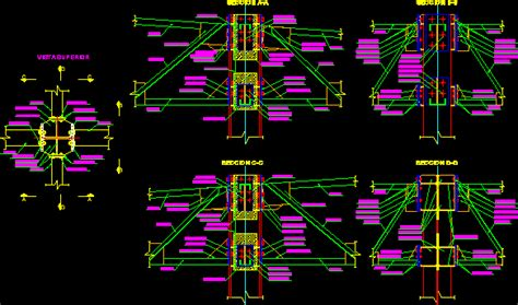 Murah Acoustic Tubular Electronics Y 01 connection detail truss with column dwg detail for autocad designs cad