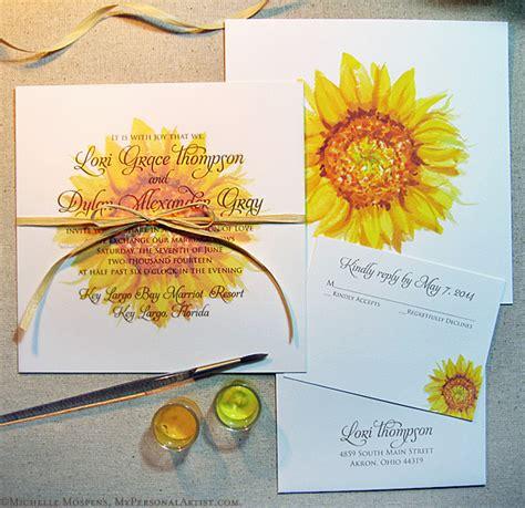 sunflower wedding invitations kits 70 sunflower wedding ideas and wedding invitations deer
