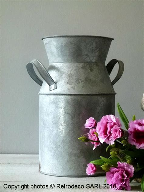 pot  lait chartwell zinc deco campagne tobs