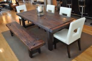 Dining Room Table Set With Bench How To Build A Dining Room Table 13 Diy Plans Guide Patterns