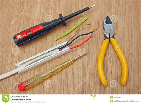 electric wiring and tools stock images image 11981044