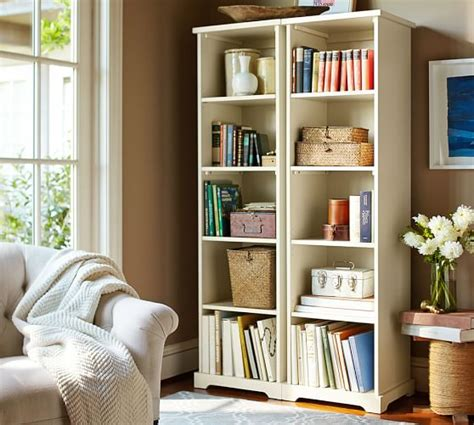 entryway bookcase narrow bookcase pottery barn