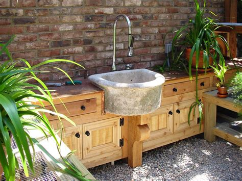 backyard sink potting shed at augusta residence