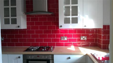 Tile Splashback Ideas Pictures Red Painted Kitchens | red brick tile splashback kitchen ideas pinterest