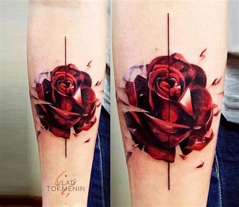red rose tattoo by vlad tokmenin photo no 16497